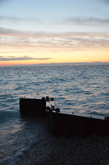 Sunset in Frankfort (naturesights) Tags: waves water wind storm sunsets greatlakes lakes landscapes light color michigan america nature seas sun