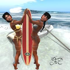 Pam Bikini Breeze & Storm (Maria Charisma) Tags: sl secondlife clothing fashion blog beach surf surfing surfboard