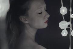 (Abby Kroke) Tags: girl woman solace sad peace lighting dark eyelashes lips lipstick fragile melancholy sadness depressed pale indoors