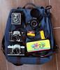 Camera Bag (berangberang) Tags: exa ihageeexa firstflex35 pilot6 vintagecamera camerabag lens pencilcase