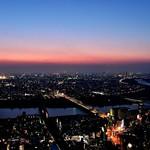 「マジックアワーの空&夜景と江戸川の流れ(きょう撮影) ~市川市・アイリンクタウン展望施設」 Night View of Tokyo and Edogawa River in Sunset from Eye Link Town View Facilities (Taken 2 days ago) Location:Ichikawa-minami,Ichikawa city,Chiba,Japan  こんばんは。今週もお疲れ様でした! 今日はアイ・リンクタウン展望施設のライトダウンイベント開催日ということで thumbnail