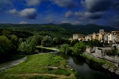 Besalú (Carlos Sobrino) Tags: nikon besalú landscape clouds sky river csobrino flickelite