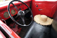 Summer Ride (YIP2) Tags: summer hat oldtimer car red ride vintage old nostalgia nostalgic warm heat