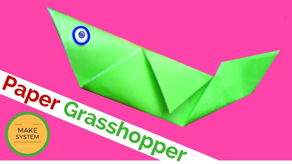 Origami Tutorial How To Fold An Easy Grasshopper With Paper Craft SDcraftBook Tags