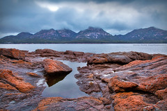 The Hazards || COLES BAY || TASMANIA (rhyspope) Tags: australia aussie tas tassie tasmania hazards sea ocean freycinet coles bay morning rain clouds weather rocks rhys pope rhyspope canon 5d mkii water nature wild explore
