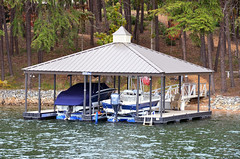 Boat Docks - Double Slip & Hip Roof