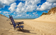 The chair (Adri Padmos) Tags: netherlands brouwersdam northseabeach dunes sky clouds beautifulphoto