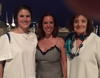 Gallerist Tyler Emerson-Dorsch, Tanya Brillenbourg and Suzanne Delehanty at the Contemporary Arts Program 10 year anniversary at Vizcaya