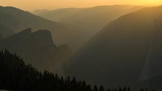 Final rays of light, Sentinel dome, Yosemite