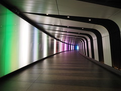 Going Underground (DaveKav) Tags: colourful stripes stripy underground pass tunnel kingscross london