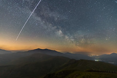 'ISS & Milky Way Over Snowdon' (Kristofer Williams) Tags: iss internationalspacestation milkyway galaxy landscape nightscape night sky stars snowdon snowdonia mountains astro astrophotography wales