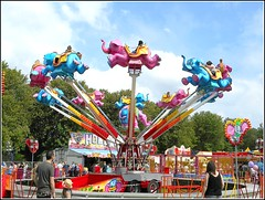 Flying Elephants .. (** Janets Photos **) Tags: uk hullseastpark publicparks cities rides fairgrounds outside colours