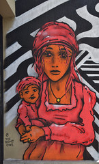 Mother (HBA_JIJO) Tags: streetart urban graffiti vitry vitrysurseine art france hbajijo wall mur painting peinture murale paris94 children spray mural woman femme urbain charactere mother baby