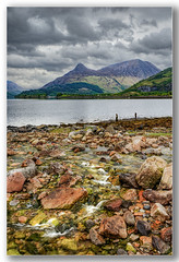 St johns burn loch leven & pap of glencoe (Alan Gray Images) Tags: colours rocks water st johns burn loch leven pap glencoe