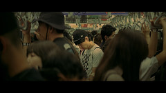 Train to Shinjuku, Tokyo, Japan (emrecift) Tags: candid portrait street photography tokyo metro subway japan cinematic 2391 anamorphic crop sony a7 alpha legacy lens glass canon new fd 35mm f28 emrecift