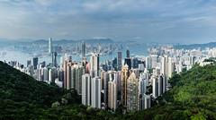 In the Valley 3/188 (*Capture the Moment*) Tags: 2017 birdsview central hongkong kowloon panoshot panorama panoramaview panoramablick peak sonya7m2 sonya7mii sonya7mark2 sonyilce7m2 thepeak victoriaharbour vogelperspektive wanchai vonoben sonyfe1635mmf4zaoss hongkongisland