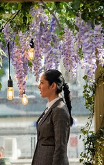 When she stops for a bite to eat and walks into her favourite flower en masse. 😊 #wisteria #flowers #grateful #woman #majesticpeople #blossom #people #light #reflection #peopleoftheworld #portraits #pusuitofportraits #nature #purple #b (jophipps1) Tags: pusuitofportraits wisteria beauty suit london purple portraits makeportraits street naturelover light nature springtime blossom portrait woman majesticpeople reflection flowers grateful peopleoftheworld loa people