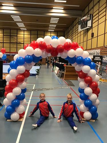 Ballonboog 5m Landelijke Halve Finale Turnen Dames Sporthal de Enk Rotterdam