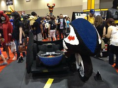 LEGO 1966 Batcycle (splinky9000) Tags: toronto canada fan expo 2014 lego booth 1966 batman batcycle lifesize sculpture replica television series toys master chief halo homestuck cosplay guests