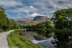 Ben Nevis and Caledonian Canal (ola_er) Tags: ben nevis caledonian canal scotland uk water reflections sky clouds nikon sunny