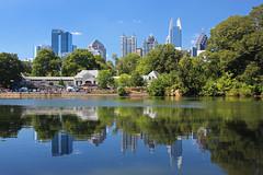 Piedmont Park (russ david) Tags: piedmont park atlanta georgia ga october 2016 pond skyline lake downtown