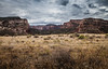 Through the Fence (grahamdennis12) Tags: utah openroad wildwildwest barbedwire rock formation moab coloradoriver tumbleweed sky landscape landscapephotography interestingview wideangle canon5dmarkii 24105usml f13