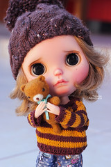 Candy (Passion for Blythe) Tags: takara blythe frenchtench teddy bear cute tiny