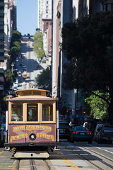 Cable Cars (Katka S.) Tags: usa united states america cable car transport street hill san francisco shadow shallo dof down old fotocompetition fotocompetitionbronze