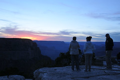 Sharon Margaret and John (Vee living life to the full) Tags: sky cloud clouds blue picture view nikond300 2017 holiday travel tourism tourist placestovisit traveller pleasure usa california arizona distance city architecture creosote rock cliff sheer drop mountains skyline horizon sitting geology sedimentary compression uplift grandcanyon people sun sunset setting
