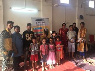 Team Blue Pen with best kids of Sangam Vihar, on 28.5.17 (4-5PM)