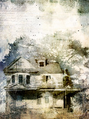 The Old White House (jeanhutter) Tags: ipad procreate brushstroke repix stackables house