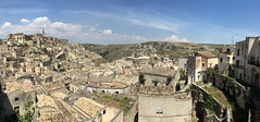 The old town of Matera in southern Italy (roomman) Tags: 2017 italy puglia region matera mountain mountains south old town oldtown unesco heritage city house hosues panorama iphone phone camera mobilde basilicata italia hill valley hilly terrain sassi world cultural history landscape nature apulien salent salento