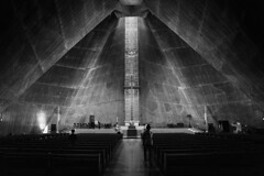 St. Mary (maekke) Tags: tokyo japan church stmary cathedral architecture urban symmetry availablelight humanelement bw noiretblanc canon tamron streetphotography 2017 travelling tourist eos6d