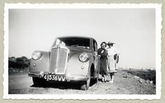 "Triumph Mayflower (Vintage Cars & People) Tags: vintage classic black white ""blackwhite"" sw photo foto photography automobile car cars motor triumph mayflower triumphmayflower lady woman dress whitedress"