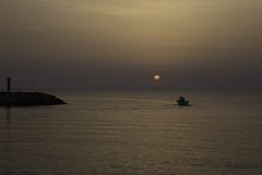 Leaving Hersonissos (Theo Bauhuis) Tags: chersonissos kreta zonsopgang limenaschersonisou griekenland gr sunrise hersonissos boat boot haven vrijheid freedom