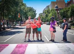 2017.06.10 Painting of #DCRainbowCrosswalks Washington, DC USA 6374