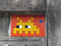Space Invader BGK_21 (tofz4u) Tags: bangkok krungthep thailand thailande bgk21 paris streetart artderue invader spaceinvader spaceinvaders mosaïque mosaic tile red yellow jaune rouge