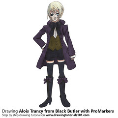 Alois Trancy from Black Butler with ProMarkers [Speed Drawing] (drawingtutorials101.com) Tags: alois trancy black butler kuroshitsuji japanese manga yana toboso promarkers promarker alcohol markers color coloring how draw timelapse video sketch sketches sketching pencil drarw time lapse timelapsevideo