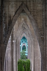 Cathedral Park (RaminN) Tags: concrete steel architecture gothicarch oregon portland pdx stjohnsbridge cathedralpark