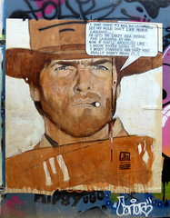 John Bulley graffiti, Shoreditch (duncan) Tags: graffiti shoreditch streetart johnbulley johnbulleyart clinteastwood afistfulofdollars quote