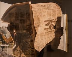 Pictures from Home (Thomas Hawk) Tags: america bayarea larrysultan museum picturesfromhome sfbayarea sfmoma sanfrancisco sanfranciscomuseumofmodernart usa unitedstates unitedstatesofamerica newspaper california us fav10 fav25 fav50