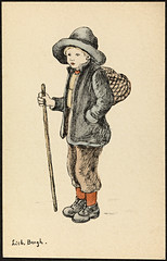 Barnemotiv av Lisbeth Bergh / Child by Lisbeth Bergh (National Library of Norway) Tags: nasjonalbiblioteket nationallibraryofnorway postkort postcards lisbethbergh kunstnerkort barn children