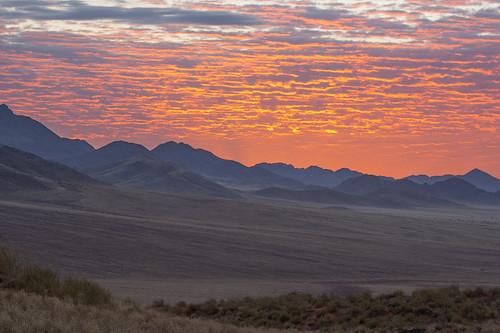 Sunset,Spectacular clouds,  Wolwedans,II, NamibRand, Namibia