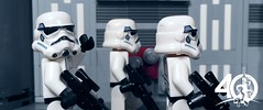 4. Friendly Stormtrooper (kyle.jannin) Tags: lego legostarwars star wars a new hope deathstar stormtroopers hallway anniversary celebration 40