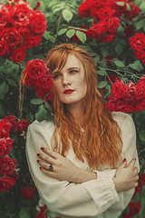 (martina.spoljaric1989) Tags: redhead redhair roses rose red freckled freckles freckledface nikon fineart naturallight retrolook vintage vintagestyle woman girl portrait classic classical