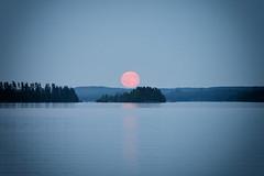Moonrise (Explored) (KadriH) Tags: vintagelens takumar135mm fullmoon moonrise sonyalpha explored finland nature night summer