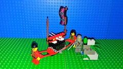 Ninja 6033 Treasure Transport (Mana Montana) Tags: lego ninja samurai robber brigand castle 6033 treasuretransport convoy ambush