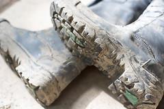 boot tread (MudboyUK) Tags: boots dirty muddyboots riggerboots workboots filthyboots bunkerbootsmuddyworkboots