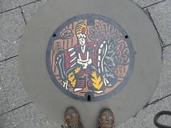 Takao-san manhole-2 (Stop carbon pollution) Tags: japan 日本 honshuu 本州 kantou 関東 toukyou tokyo 東京