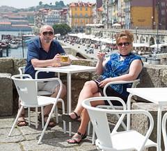 "Cheers (joeinpenticton Thank you 1.4 Million + views) Tags: porto douro river ""cais da ribeira"" joeinpenticton portugal cruise ship ships joe wendy oporto"
